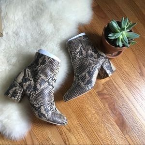 NWT Urban Outfitters Thelma Snake Ankle Boot
